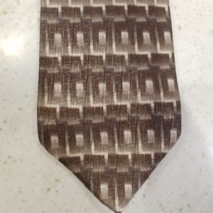 Van Heusen Brown Silk Tie